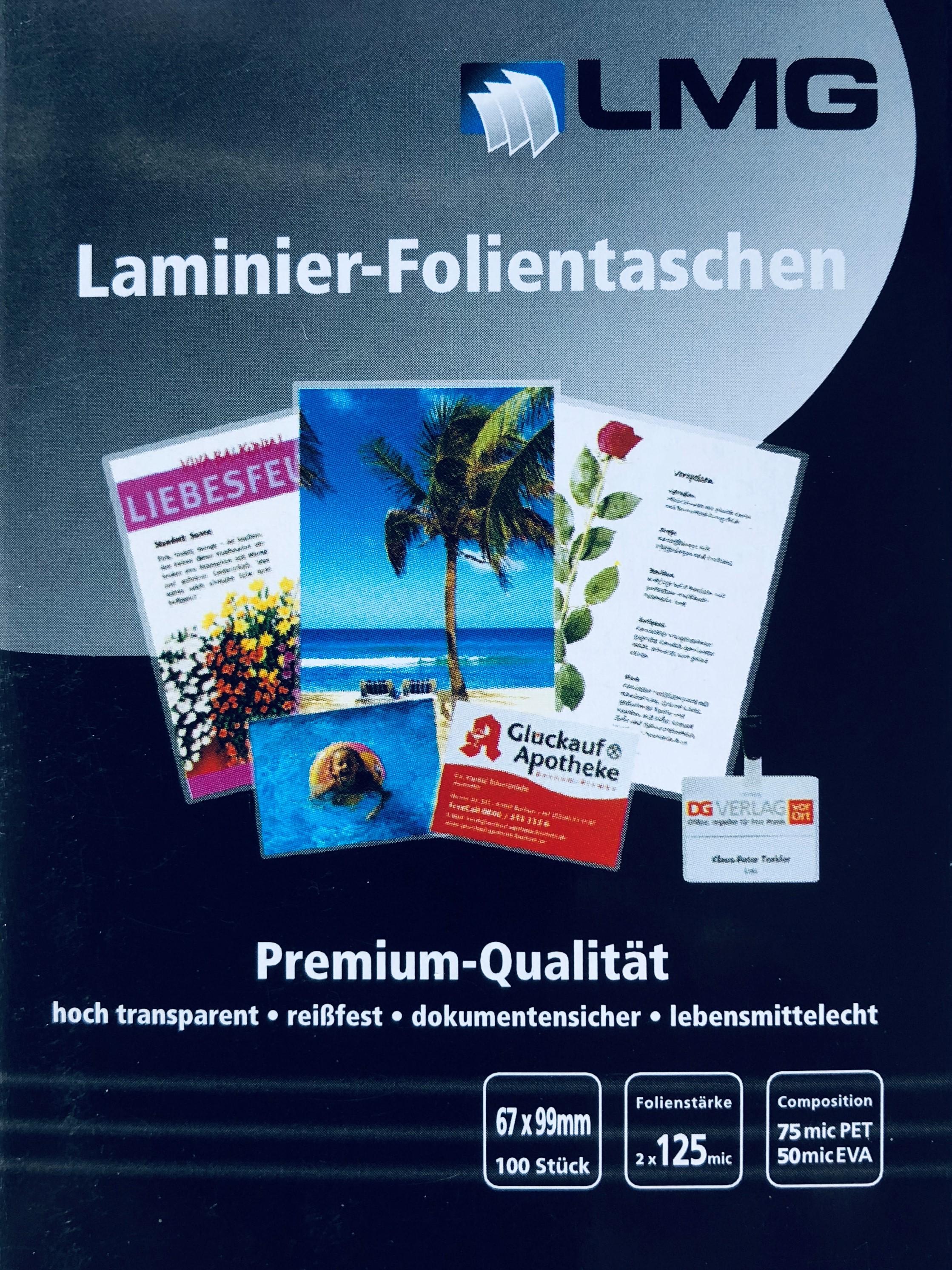 100 Laminierfolien Laminiertaschen Folientaschen A4 2x75 mic Günstig!